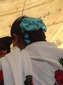 Moños - die Huixtecas binden ihre Schleifen zu Blumen - ich kann es jetzt perfekt!