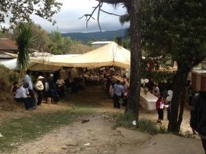 Gehoeft bei einer Hochzeitsfeier