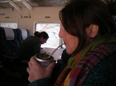 Mate im Zug